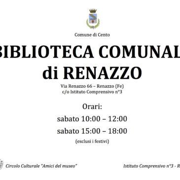 Inaugurazione nuova Biblioteca Comunale a Renazzo